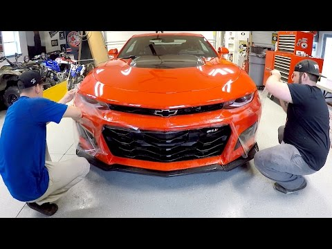WRAPPING My 2017 Camaro ZL1!!!