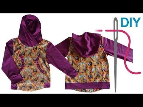 Sweatshirt nähen für Anfänger – DIY Kapuzenshirt