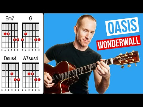 Wonderwall  Oasis  Acoustic Guitar Lesson  How to Play Strumming Chord Songs
