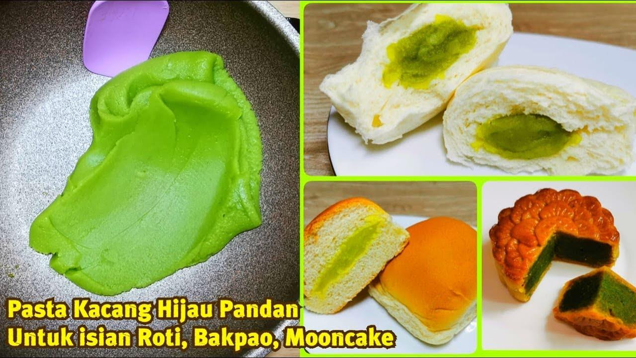 Pasta Kacang Hijau Pandan Untuk Isian Roti Bakpao Mooncake Pakai Teflon Saja Ga Ribet Youtube