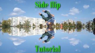 Обучение на Боковое сальто | Side flip tutorial
