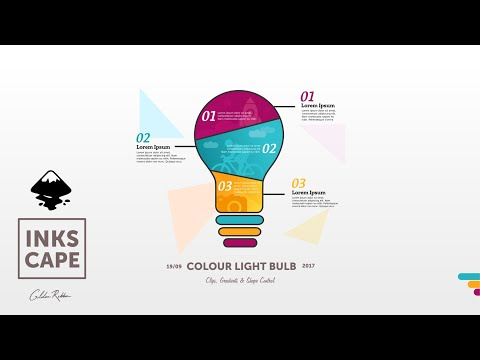 Inkscape Infographic: Coloured Light Bulb