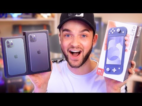 NEW iPhone 11 PRO + Nintendo Switch LITE unboxing!