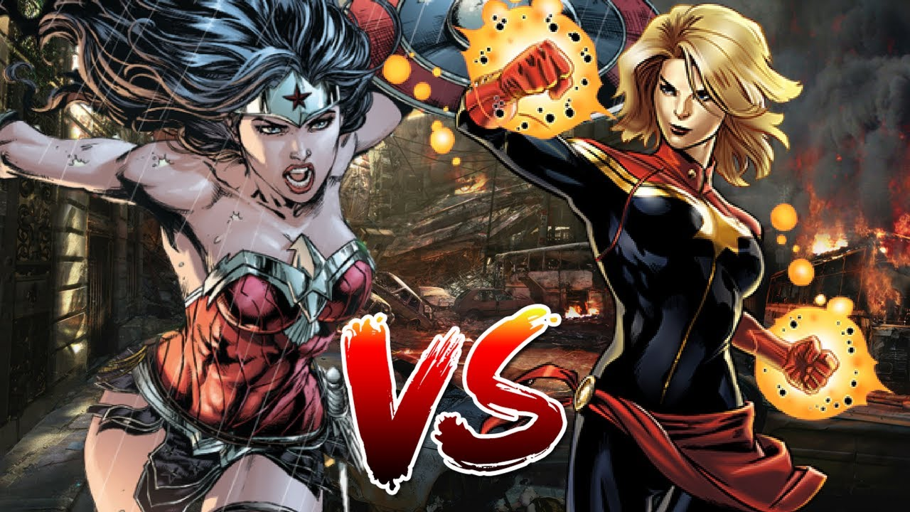 wonder woman vs captain marvel | who wins? - youtube