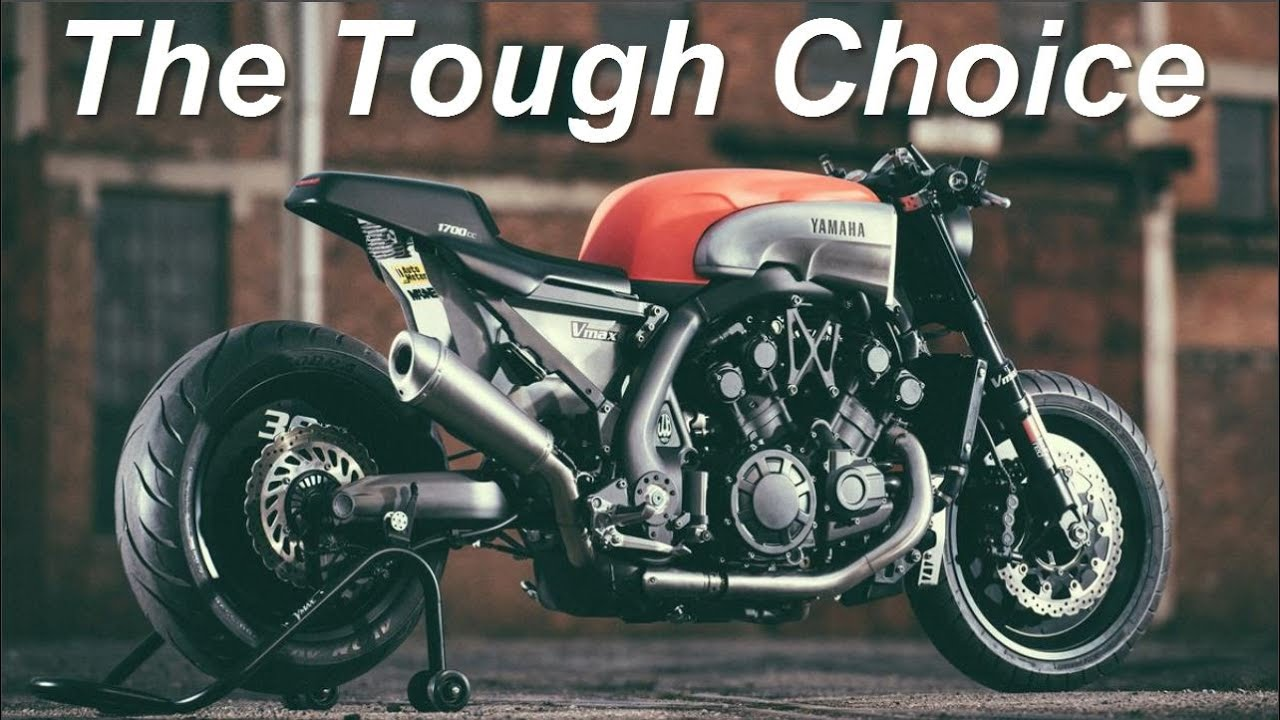 cafe racer (yamaha vmaxjvb moto) - youtube