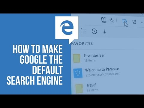 Windows 10 - How to Make Google the Default Search Engine in Microsoft Edge