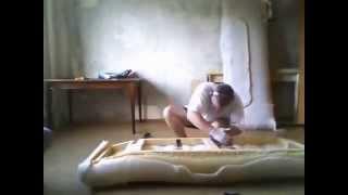 как поменять обивку дивана самому