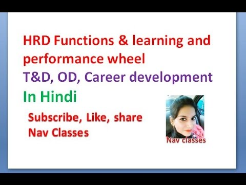 HRD Functions \u0026 Learning And Performance Wheel   In Hindi   M.com, MBA