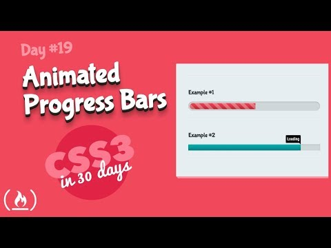 Animated Progress Bars: CSS Tutorial (Day 19 Of CSS3 In 30 Days)