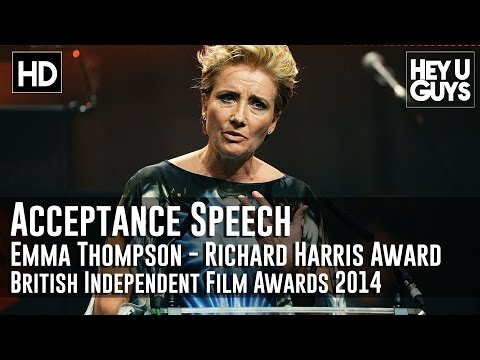 Emma Thompson Wins the Richard Harris Award Acceptance Speech - BIFA 2014