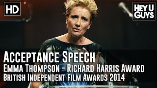 Emma Thompson Wins the Richard Harris Award Acceptance Speech - BIFA 2014