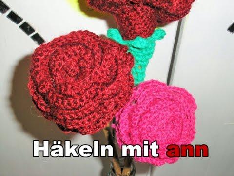 rose h keln anleitung crochet rose eng sub doovi. Black Bedroom Furniture Sets. Home Design Ideas