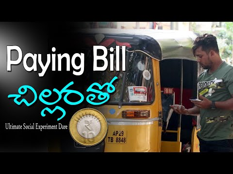 Paying Bill With Coins(Social Experiment Dare)   Vinay Kuyya