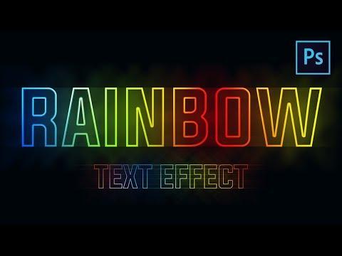 [ Photoshop Tutorial ] Create Rainbow Text Effect in Photoshop thumbnail
