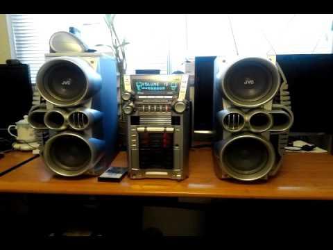 JVC HX GX7 5 CD Tape AM FM MP3 Shelf Stereo System