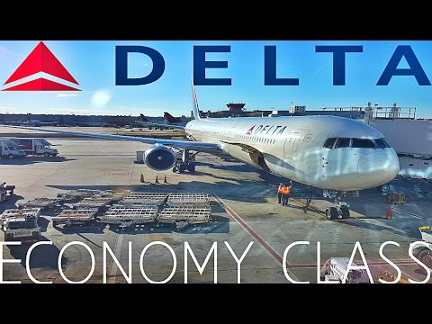 Delta Airlines ECONOMY CLASS London to Atlanta|Boeing 767-400