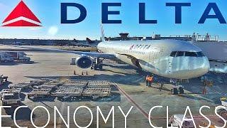 Delta Airlines ECONOMY CLASS London to Atlanta|Boeing 767-400