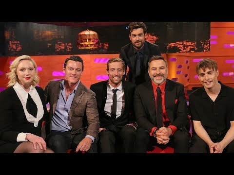 The Graham Norton Show S25E07 Luke Evans David WalliamsGwendoline Christie Peter Crouch