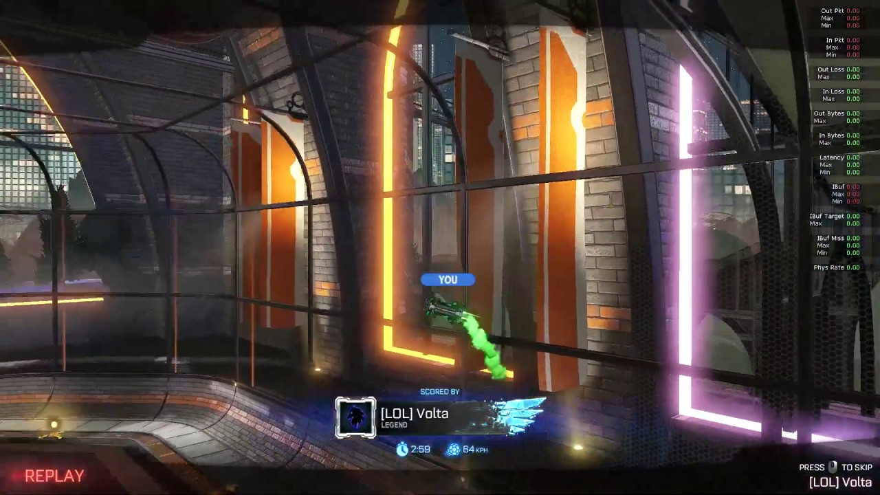 Rocket league | Platinum player scoring insane redirect shot