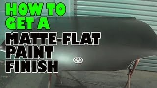 How to get a matte - flat paint finish Video