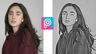 How to Edit Photo - pencil sketch in Pisart | Picsart Editing Tutorial screenshot 5