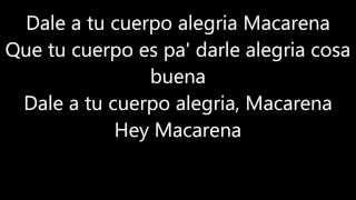 Macarena - Los del Rio, Lyric video (Hey Macarena!)