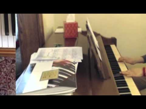 An adult piano student plays Happiness by Turk