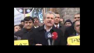 Meteoroloji çalışanlarından Bakan Eroğlu'na tazminat protestosu