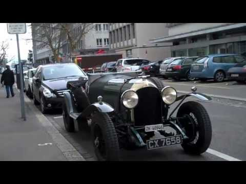 Old Vintage Car Parked Walkaround in Zurich, Switzerland