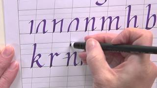 Calligraphy for Beginners - How to Write a Lower Case Italic Alphabet w/Joanne Fink