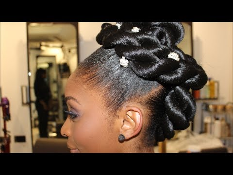 Bridal Series Two Strand Twisted Updo Youtube