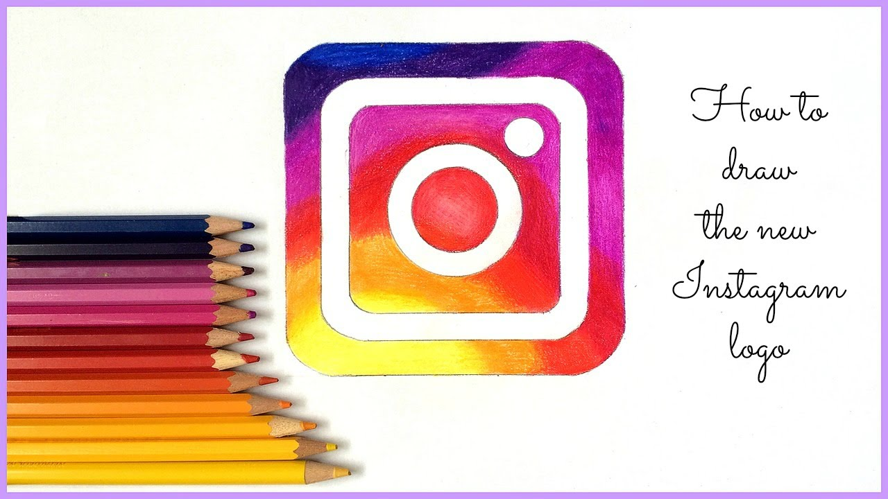 Scribble Drawing Instagram : Je dessine le nouveau logo instagram youtube