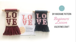 Valentine's Day Crafts - DIY Macrame Wall Hanging Easy