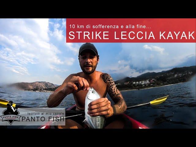 Leccia stella a traina in kayak