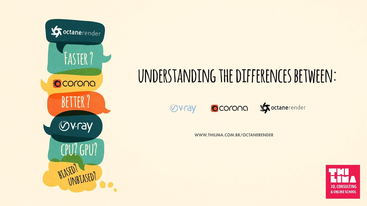 Understanding the differences between: Vray x Corona x Octane Render  (ENGLISH SUBS)