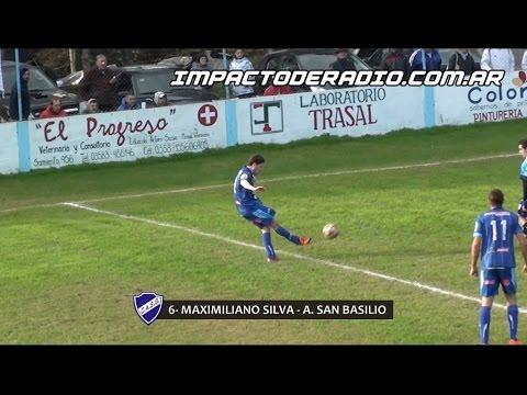 Gol de Silva. San Martín 0 - Atlético San Basilio 1. Fecha 12. Primera División A 2016