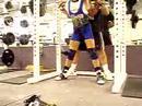 Cheryl Anderson 240x3 Squats @ 104 lbs.