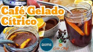 CAFÉ GELADO CÍTRICO Feito Com Água DIMI Alcalina pH8+ e Antioxidante