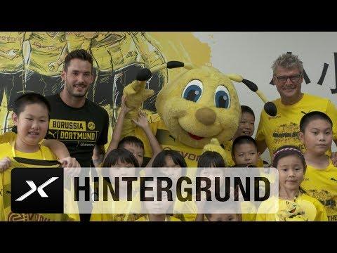 Roman Bürki singt BVB-Hymne mit chinesischen Kindern   Borussia Dortmund auf Asien-Reise