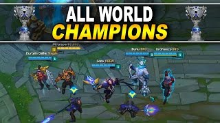 EVERY WORLD CHAMPION SKIN TEAM | League of Legends