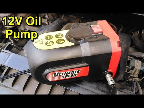 Easy Oil Change Using A 12 Volt Oil Extractor Pump Youtube