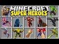 Minecraft SUPERHEROES MOD | SPIDER MAN, ROBIN, IRON MAN, THOR!!
