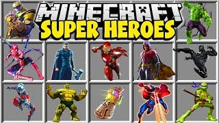 Minecraft SUPERHEROES MOD | SPIDER MAN, ROBIN, IRON MAN, THOR!!