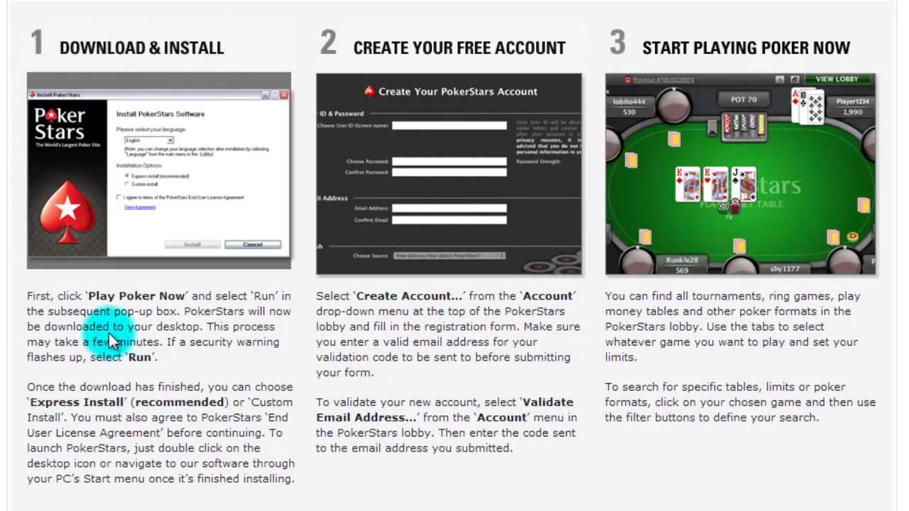 pokerstars install