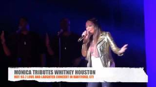 Monica Pays Tribute To Whitney Houston With Soulful Performance