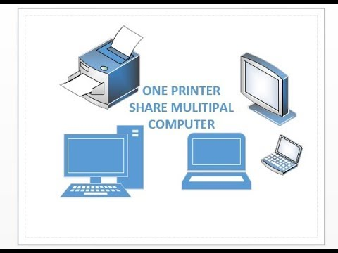One printer two computers share