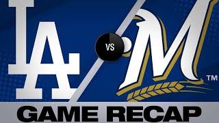 Yelich, Braun power Brewers past Dodgers - 4/20/19