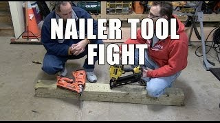 NAILERS Paslode vs DeWALT - Friday Night Tool Fight