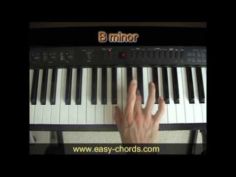 Bm Chord Piano How To Play B Minor Chord On The Piano Youtube