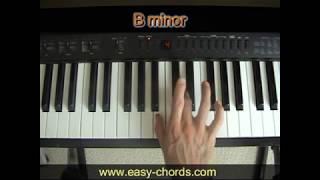 Bm وتر البيانو - كيفية اللعب ب وتر طفيفة على البيانو